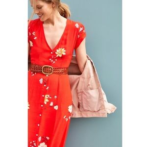 Anthropologie Capulet Lanesboro Red/OJ Maxi Dress